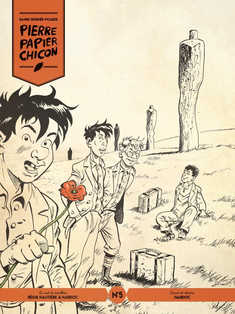 pierre papier chicon 5 carnet de dessins la guerre des lulus david francois périmony hautière hardoc amiens picardie hauts de france chemin des dames bande dessinée